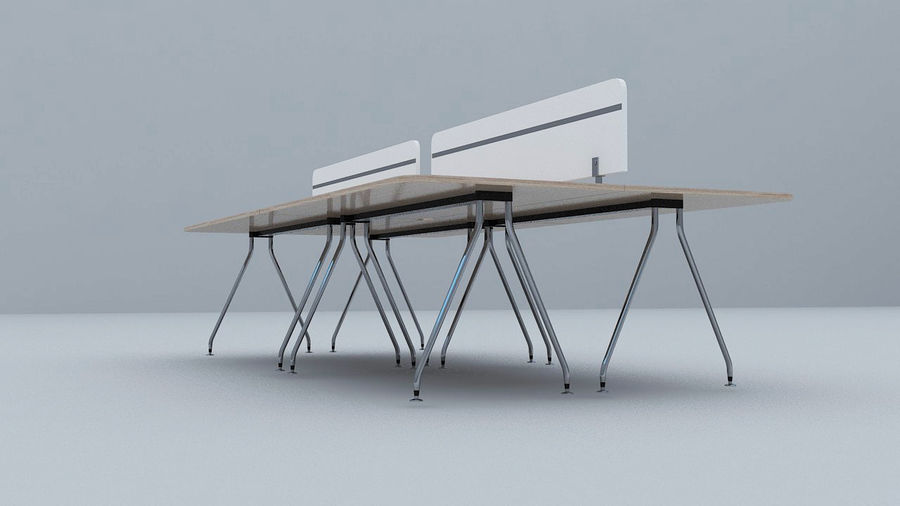Ikea Style Modern Office Table Furniture royalty-free 3d model - Preview no. 4