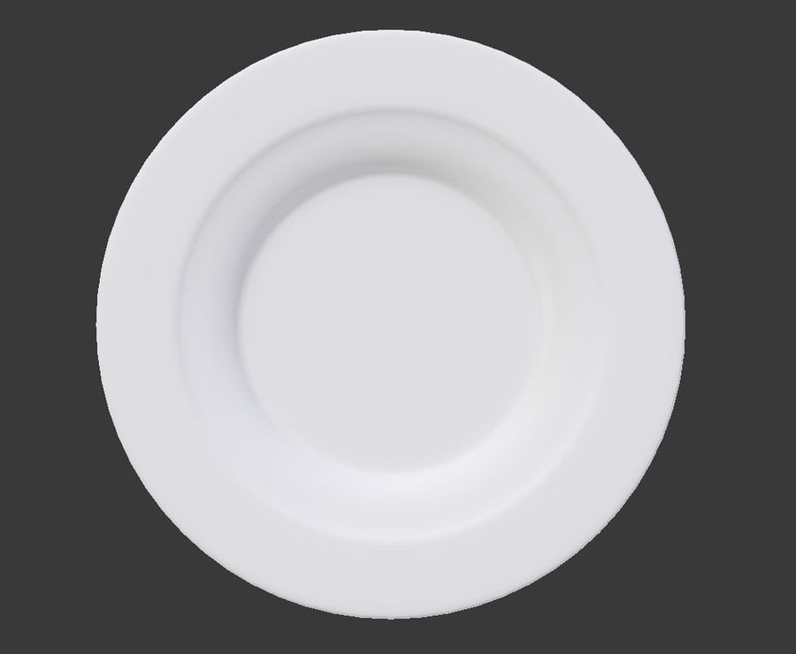 Round Dinner Plate royalty-free 3d model - Preview no. 3