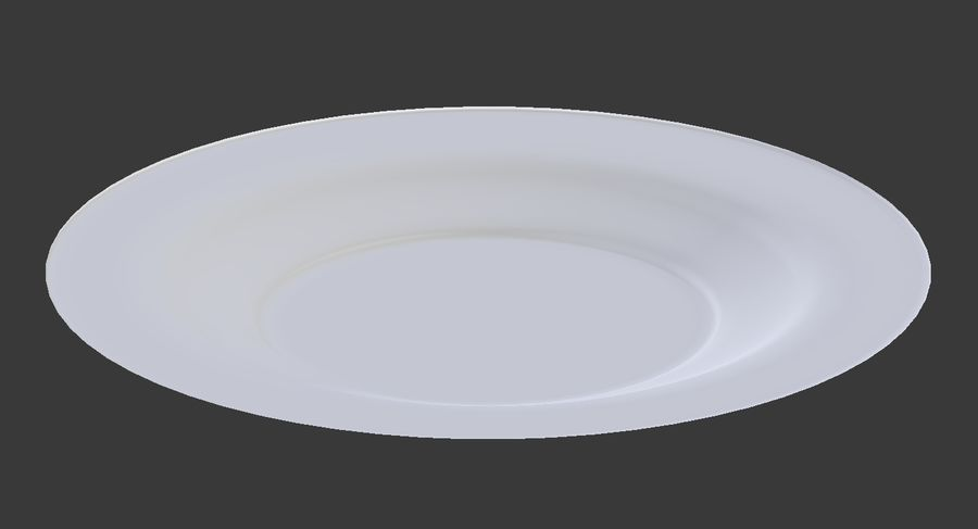 Round Dinner Plate royalty-free 3d model - Preview no. 5