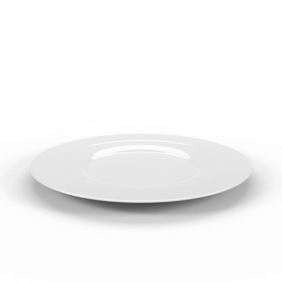 Round Dinner Plate royalty-free 3d model - Preview no. 1