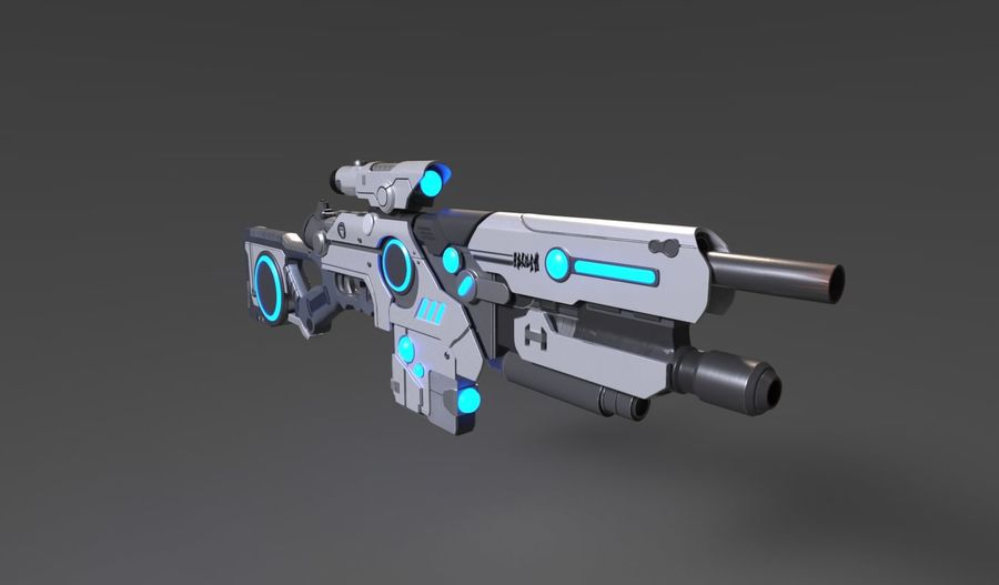 Sci-Fi Weapon royalty-free 3d model - Preview no. 2