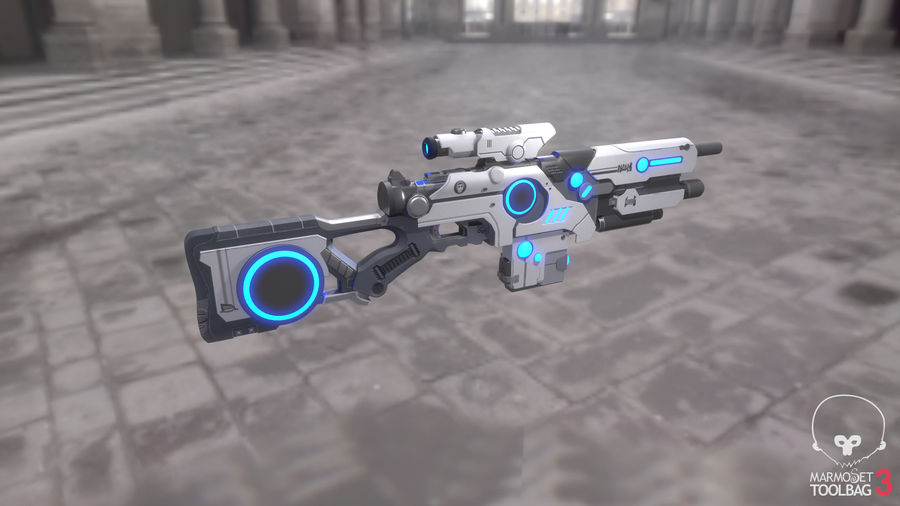 Sci-Fi Weapon royalty-free 3d model - Preview no. 5