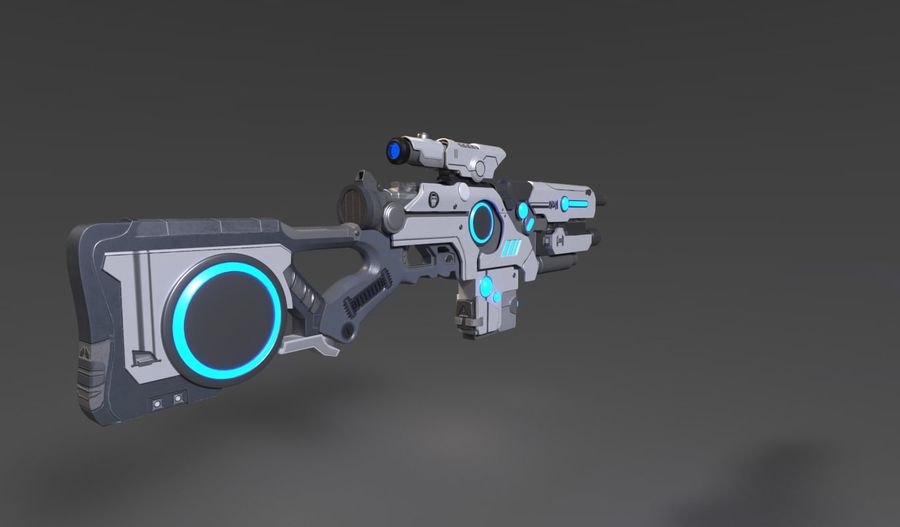 Sci-Fi Weapon royalty-free 3d model - Preview no. 3