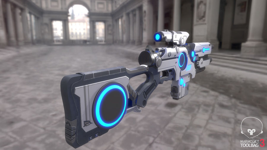 Sci-Fi Weapon royalty-free 3d model - Preview no. 9