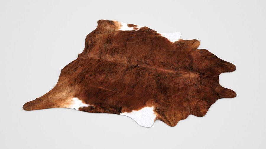 IKEA carpet Cow hide KOLDBY2 Brown rug royalty-free 3d model - Preview no. 5