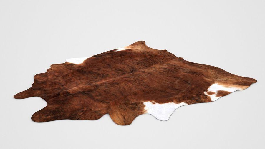 IKEA carpet Cow hide KOLDBY2 Brown rug royalty-free 3d model - Preview no. 2