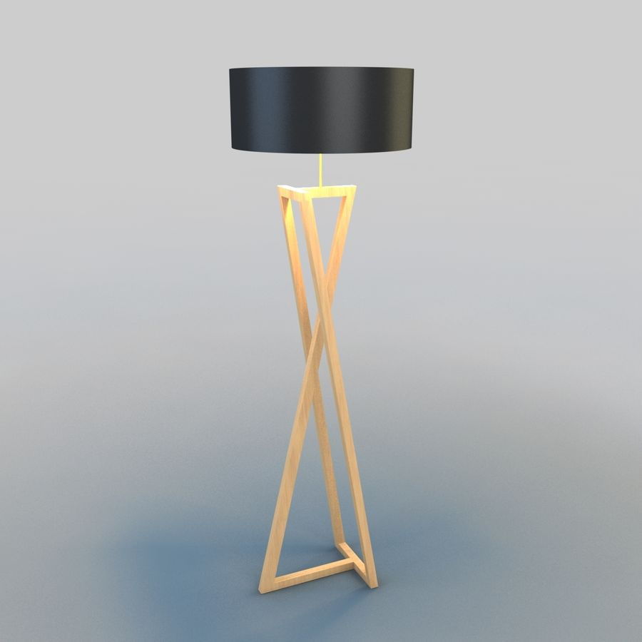 Modern Floor Lamp royalty-free 3d model - Preview no. 1