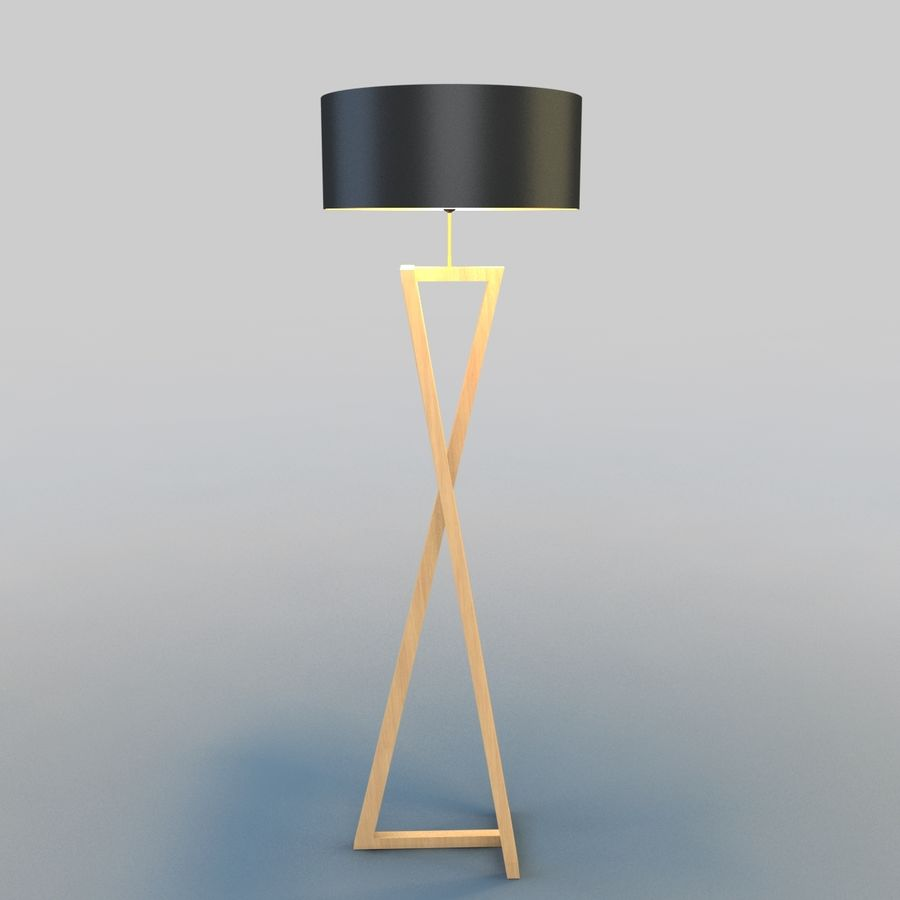 Modern Floor Lamp royalty-free 3d model - Preview no. 2