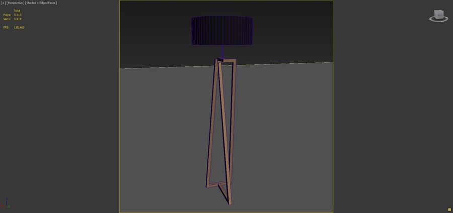Modern Floor Lamp royalty-free 3d model - Preview no. 5