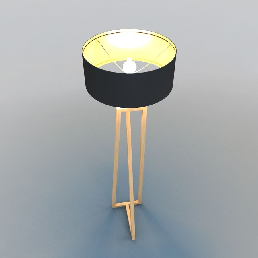 Modern Floor Lamp royalty-free 3d model - Preview no. 4