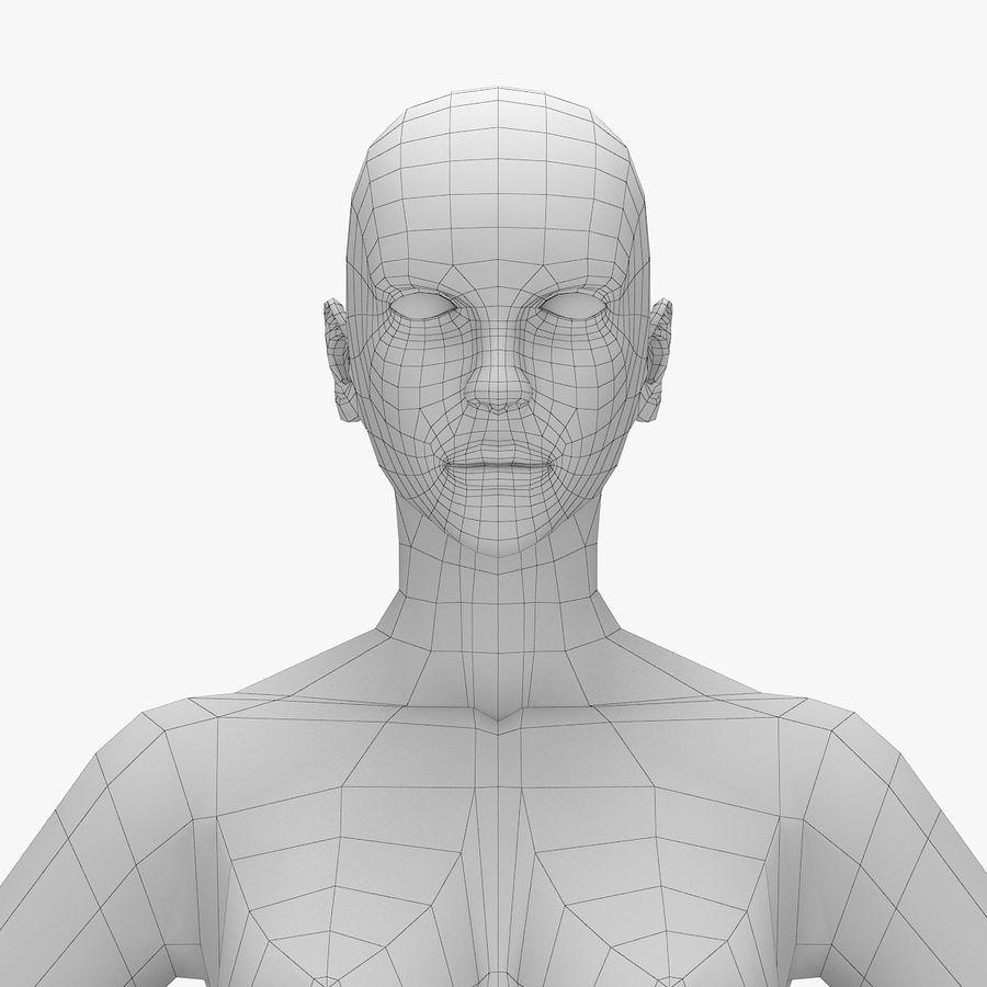 Base mesh-female royalty-free 3d model - Preview no. 4