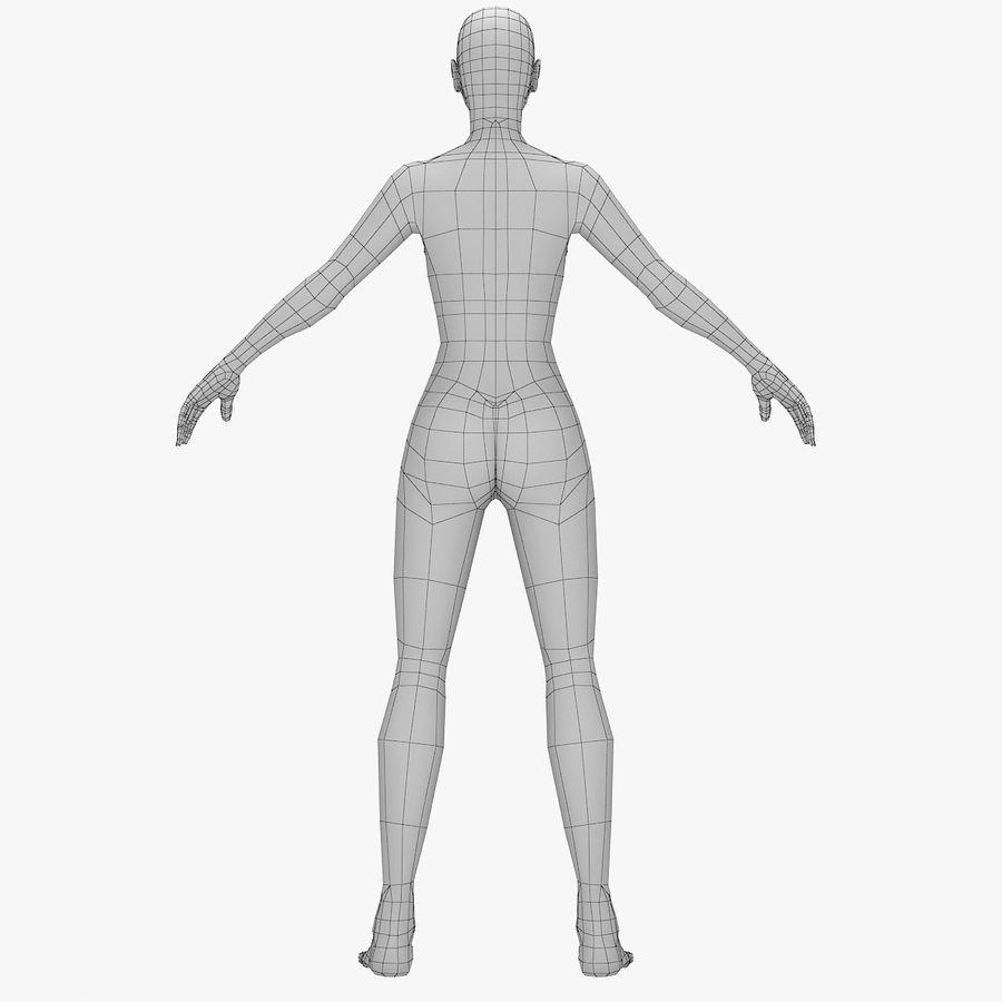 Base mesh-female royalty-free 3d model - Preview no. 2