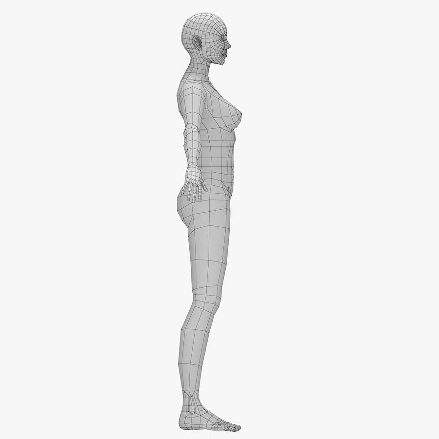 Base mesh-female royalty-free 3d model - Preview no. 3