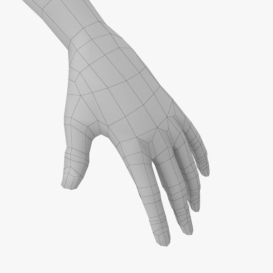 Base mesh-female royalty-free 3d model - Preview no. 9