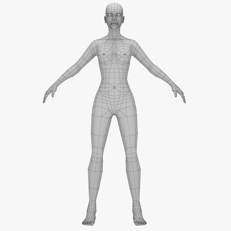 Base mesh-female royalty-free 3d model - Preview no. 1