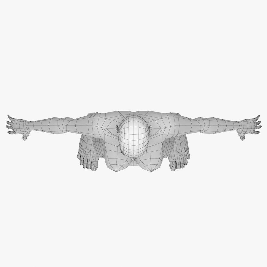 Base mesh-female royalty-free 3d model - Preview no. 8