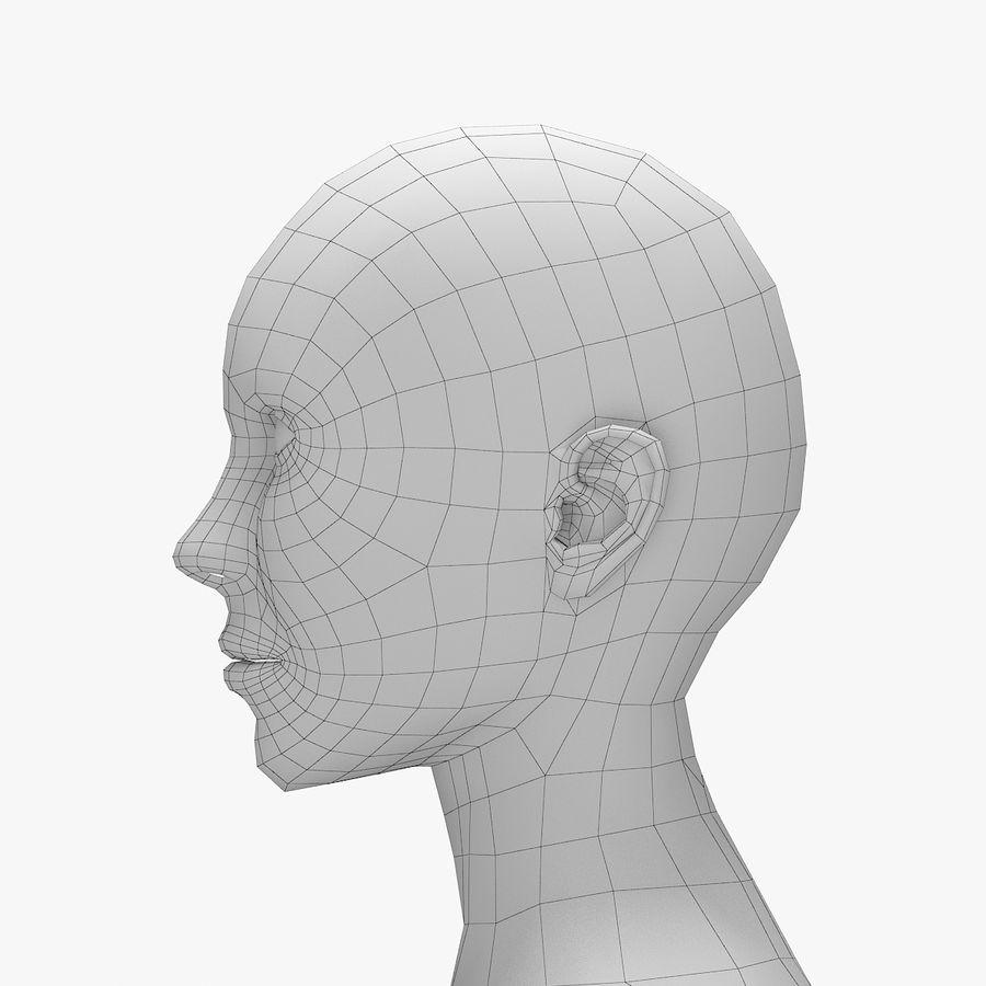 Base mesh-female royalty-free 3d model - Preview no. 5