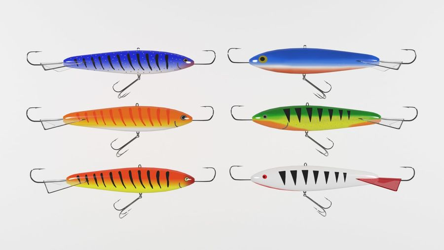 Fishing Lures royalty-free 3d model - Preview no. 1