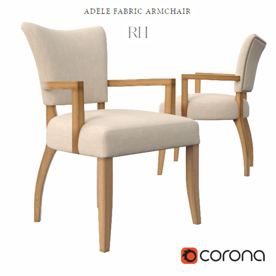 ADELE FABRIC ARMCHAIR royalty-free 3d model - Preview no. 1