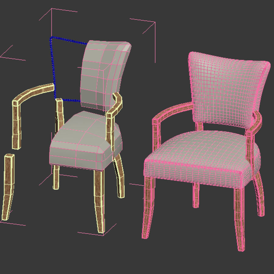 ADELE FABRIC ARMCHAIR royalty-free 3d model - Preview no. 5