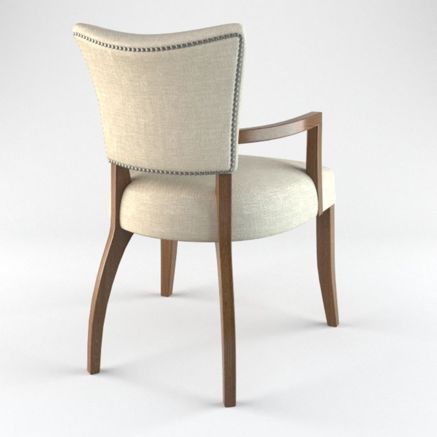 ADELE FABRIC ARMCHAIR royalty-free 3d model - Preview no. 4