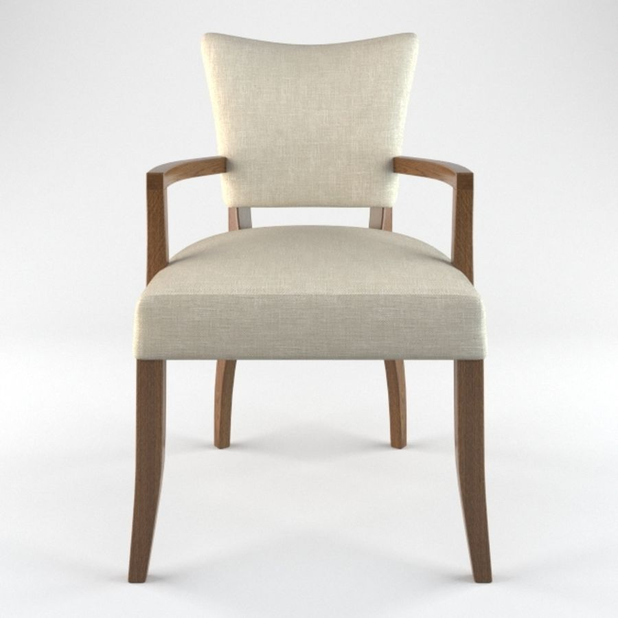 ADELE FABRIC ARMCHAIR royalty-free 3d model - Preview no. 3