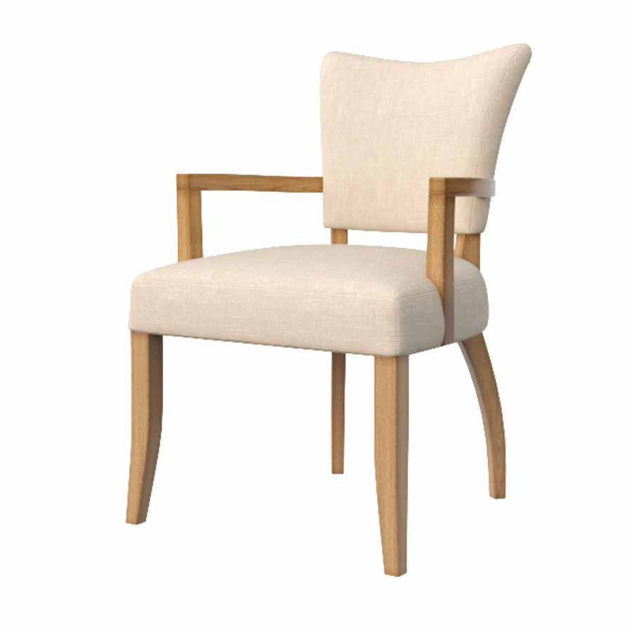 ADELE FABRIC ARMCHAIR royalty-free 3d model - Preview no. 2