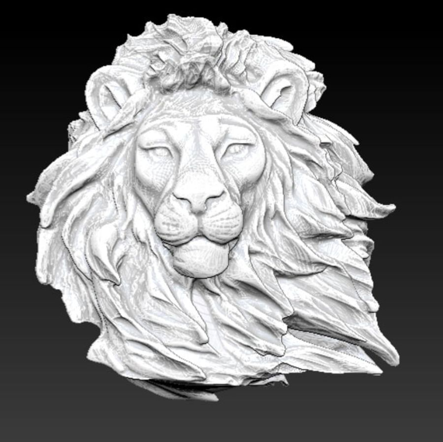 aslan royalty-free 3d model - Preview no. 1