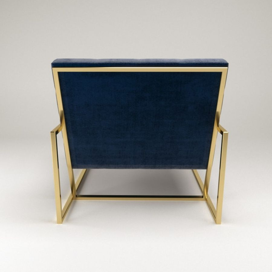 Jonathan Adler Goldfinger Lounge Chair Royalty Free 3d Model   Preview No. 5