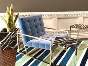 Silla de salón Jonathan Adler Goldfinger modelo 3d