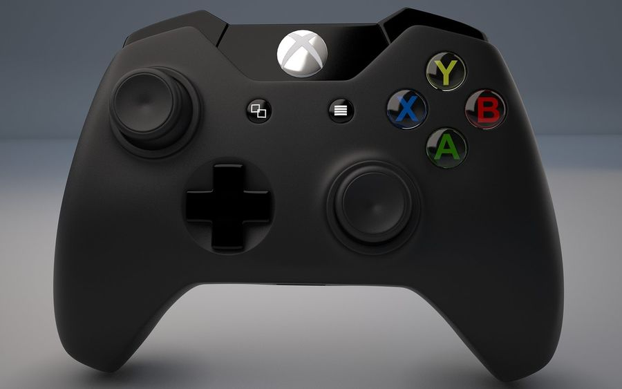 Xbox ett royalty-free 3d model - Preview no. 8