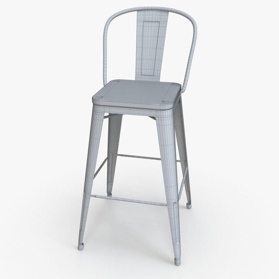 Super Vintage Metal Bar Stool With Back Ii 3D Model 16 Max Machost Co Dining Chair Design Ideas Machostcouk