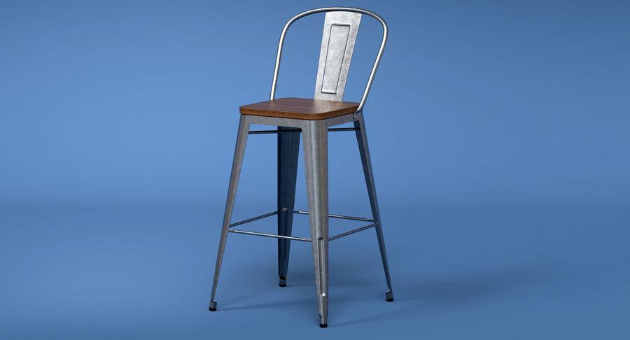 Superb Vintage Metal Bar Stool With Back Ii 3D Model 16 Max Machost Co Dining Chair Design Ideas Machostcouk