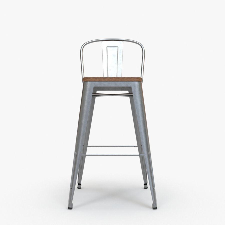 Phenomenal Vintage Metal Bar Stool With Back Ii 3D Model 16 Max Machost Co Dining Chair Design Ideas Machostcouk