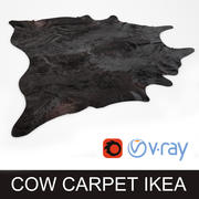 Ikea Koldby black cow hide carpet rug for photorealistic interior vizualisation 3d model