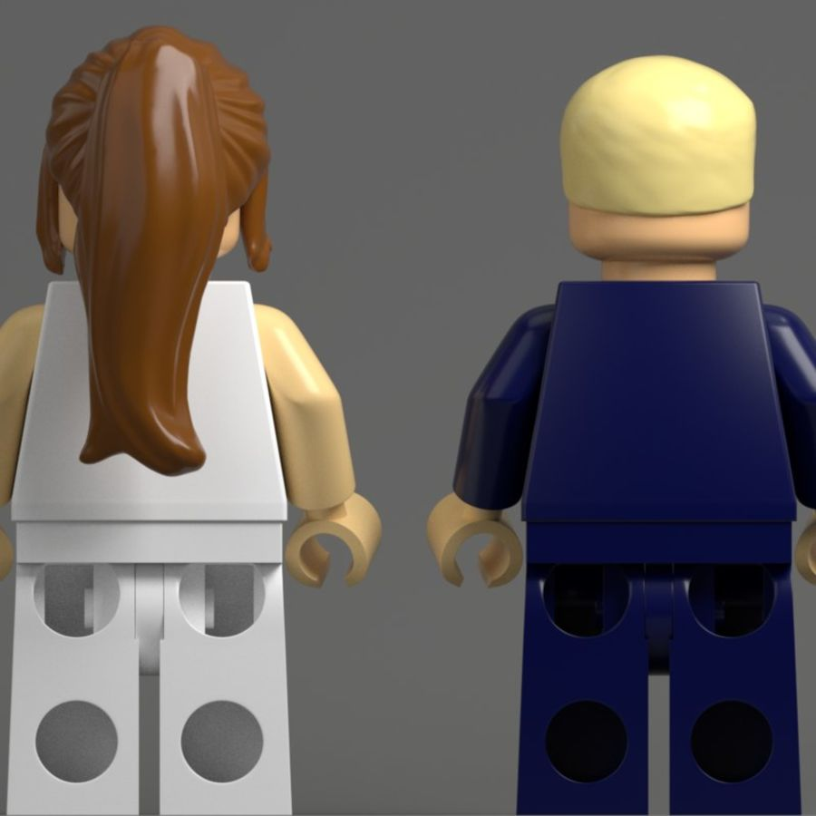 Trump Lego royalty-free 3d model - Preview no. 5
