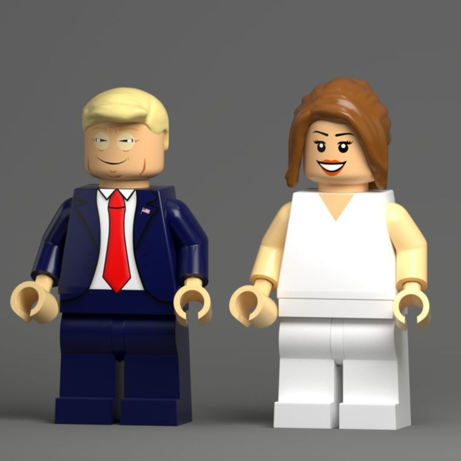 Trump Lego royalty-free 3d model - Preview no. 1