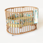 Round crib Moon bed 3d model