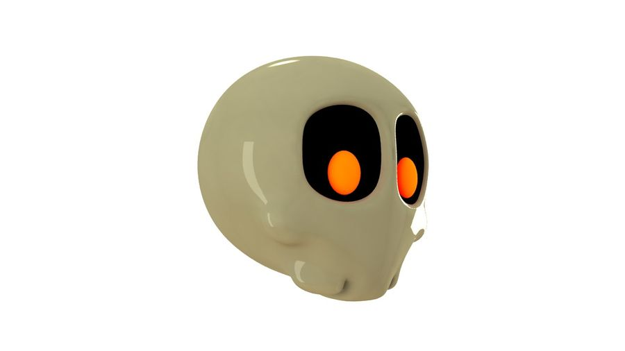 Skull Toon royalty-free 3d model - Preview no. 2