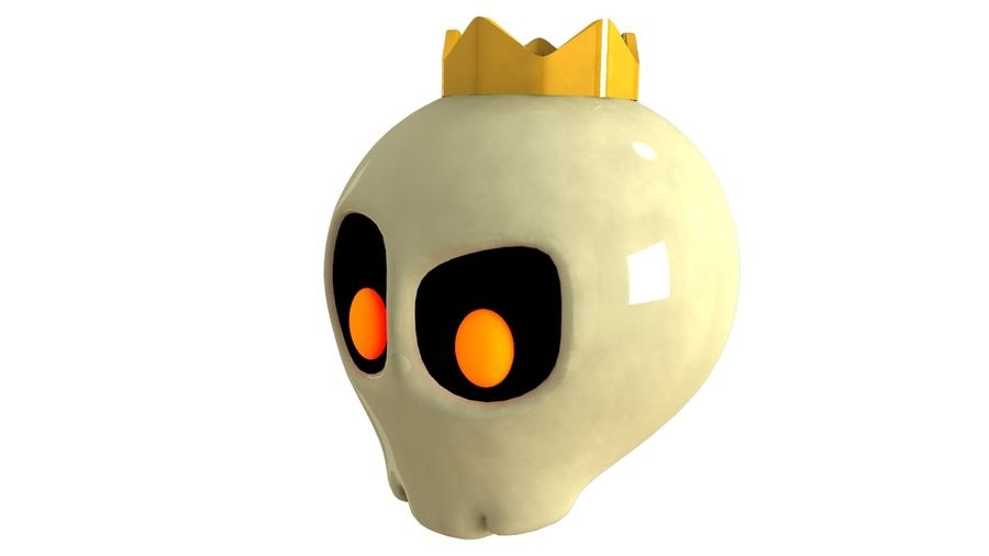 Skull Toon royalty-free 3d model - Preview no. 5