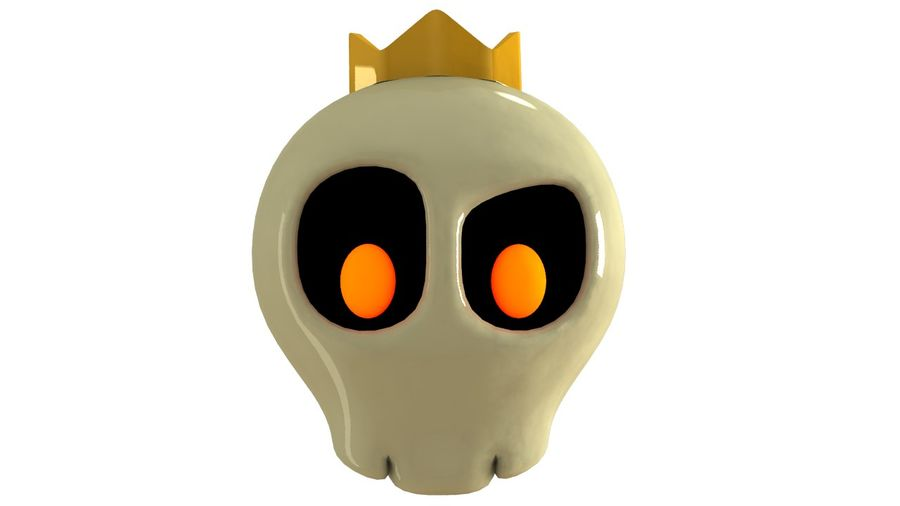 Skull Toon royalty-free 3d model - Preview no. 4