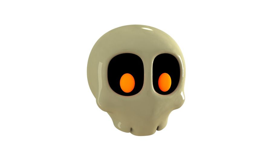 Skull Toon royalty-free 3d model - Preview no. 1
