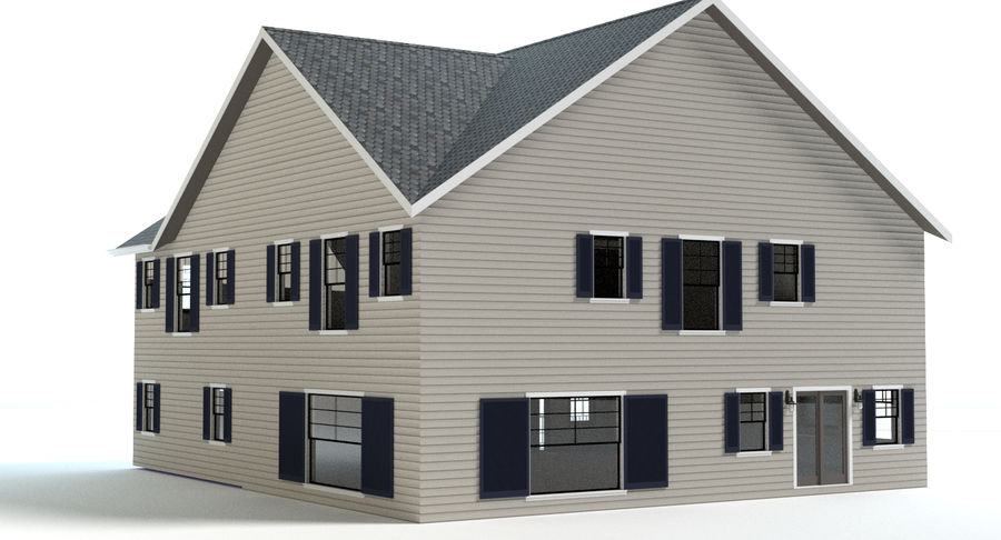 Country Farm House royalty-free 3d model - Preview no. 9