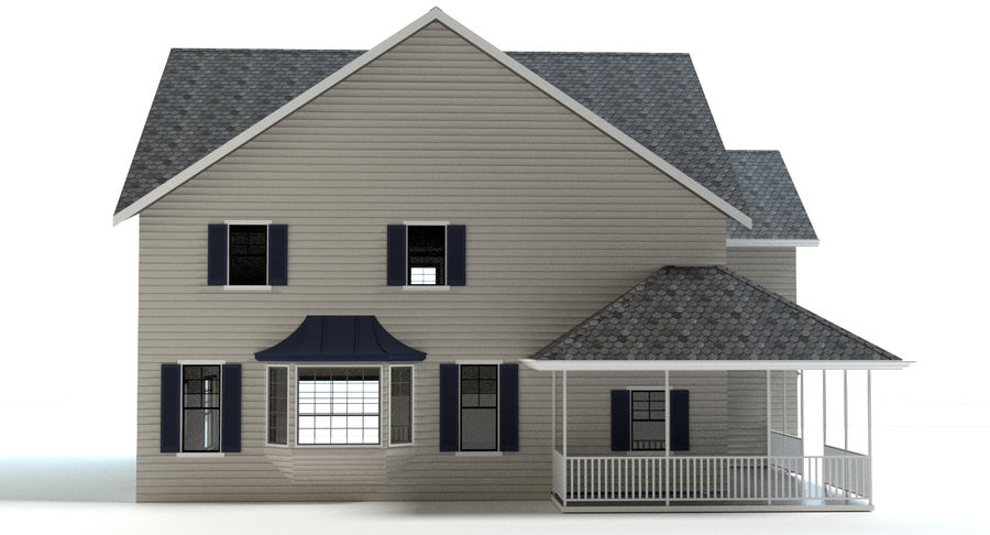Country Farm House royalty-free 3d model - Preview no. 6