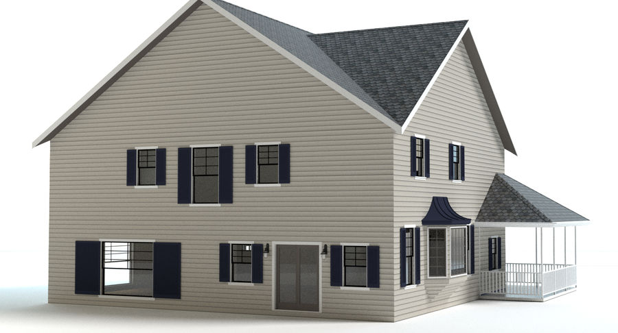 Country Farm House royalty-free 3d model - Preview no. 8