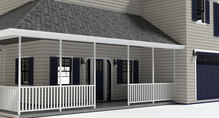 カントリーファームハウス royalty-free 3d model - Preview no. 3