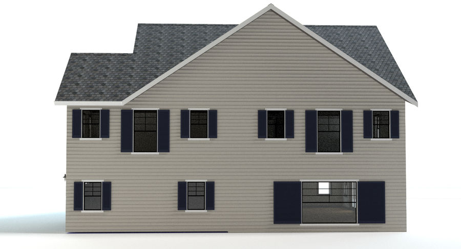 Country Farm House royalty-free 3d model - Preview no. 10