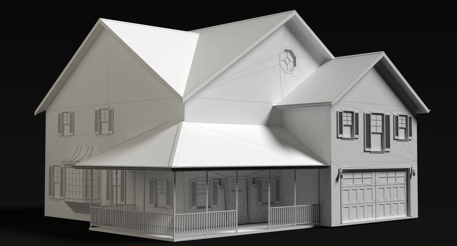 カントリーファームハウス royalty-free 3d model - Preview no. 5