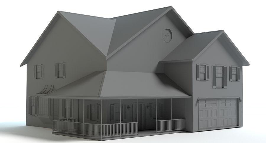 カントリーファームハウス royalty-free 3d model - Preview no. 4