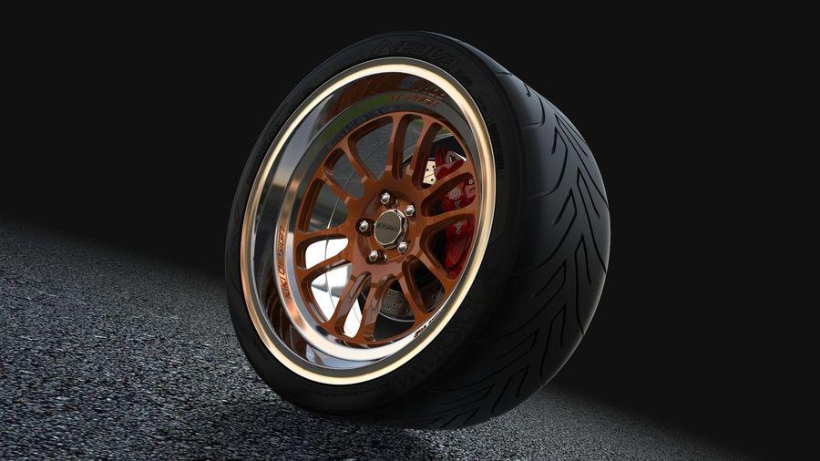 Cosmis Racing xt206r i Yokohama ADVAN a048 royalty-free 3d model - Preview no. 1